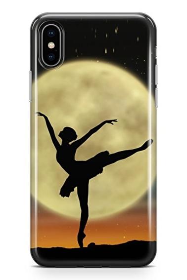 Lopard iPhone Xs Max Kılıf Silikon Arka Kapak Koruyucu Balerin Desenli Full HD Baskılı Renkli
